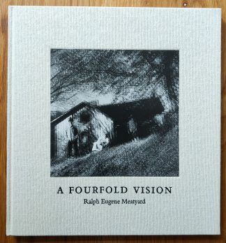The photography book cover of A Fourfold Vision by Ralph Eugene Meatyard. In hardcover beige.