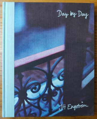 The photography book cover of Day by Day by J H Engstrom. In hardcover blue.