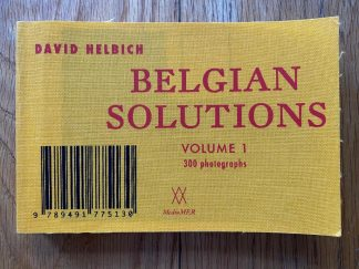 The photography book cover ofBelgian Solutions (Volume 1) by David Helbich. In softcover yellow.