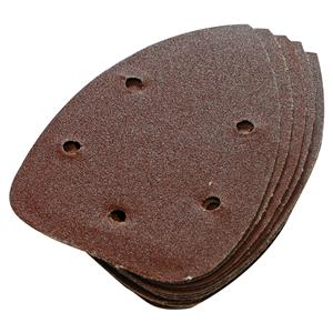 Feuilles abrasives triangulaires auto-agrippantes 140 mm, 10 pcs