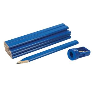 Carpenters Pencils & Sharpener Set 13pce