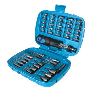 Ratchet Screwdriver Bit & Socket Set 45pce
