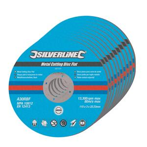 Metal Cutting Discs Flat 10pk