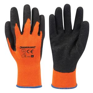 Hi-Vis Builders Gloves Orange