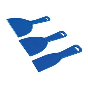 Set di raschietti in plastica 3 p.zi