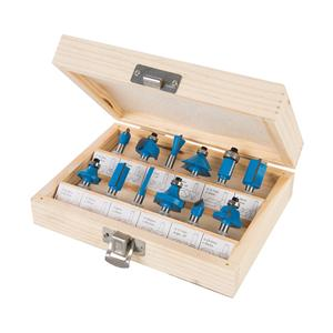 "1/4"" TCT Router Bit Set 12pce"
