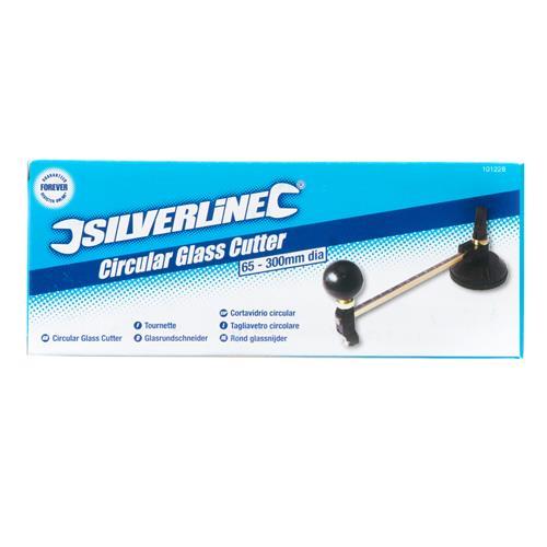 Ø 65–300 mm Silverline 101228 Glasrundschneider 2–8 mm stark