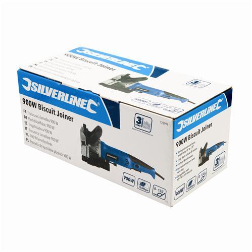 Silverline 960260 D/éfonceuse /à biscuits 900 W