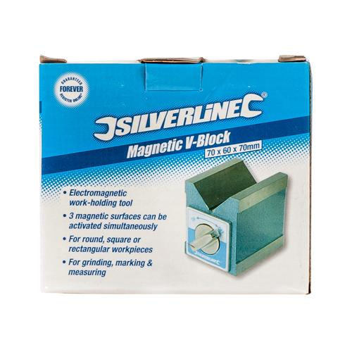 Silverline 244994 Magnetic V-Block 70 x 60 x 70 mm