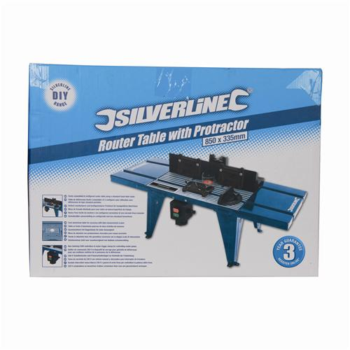 460793 Silverline DIY Router Table With Protractor UK Bench Mounted Table
