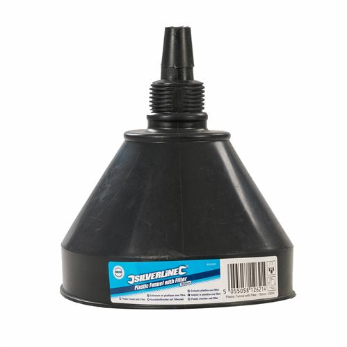 Silverline 633563 Plastic Funnel with Filter 160mm