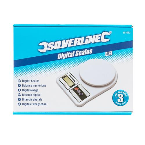 Silverline 651052 B/áscula Digital 5 kg Capacidad
