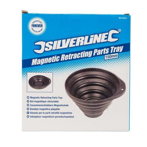 Silverline 824054-Vassoio Magnetico 150 mm