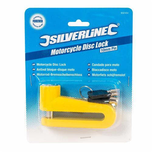Silverline 932434 Candado para moto Pasador 10 mm