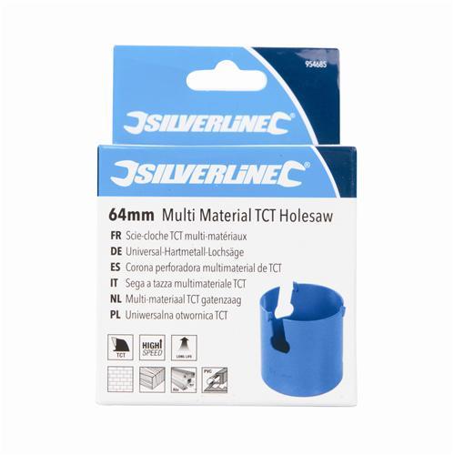 Silverline 954685 Multi Matériau TCT Scie-cloche 64 mm