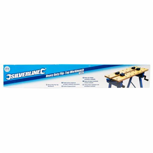 Silverline TB05 Stabile Klappwerkbank 150 kg