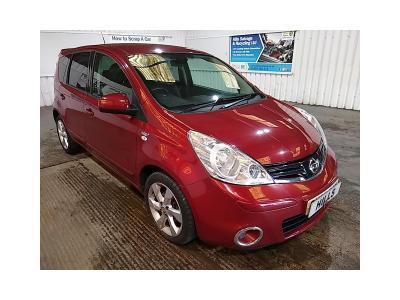 Image of 2012 Nissan Note N-TEC PLUS 1598cc Petrol Automatic 4 Speed MPV (MULTI-PURPOSE VEHICLE)