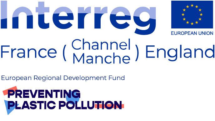 Preventing Plastic Pollution project logo including EU flag
