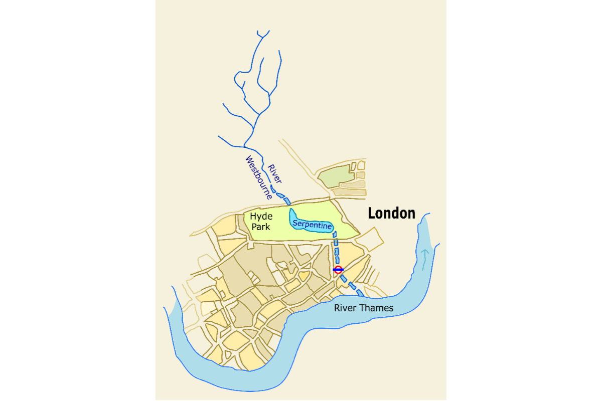 A map of the River Westbourne