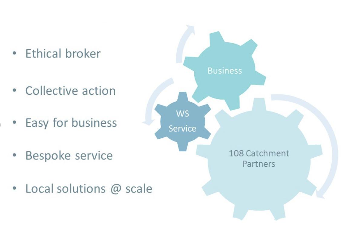 Water Stewardship diagram, showing key roles