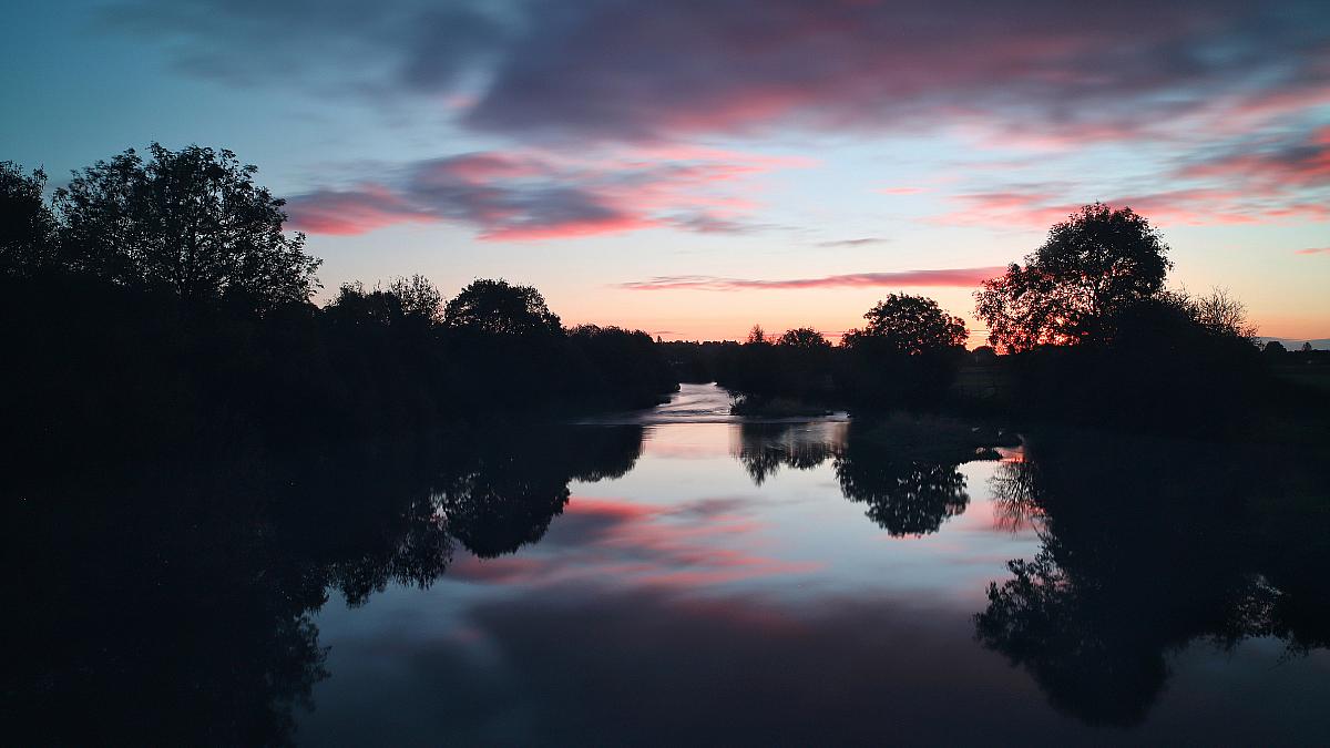 Sunrise river Canva stock