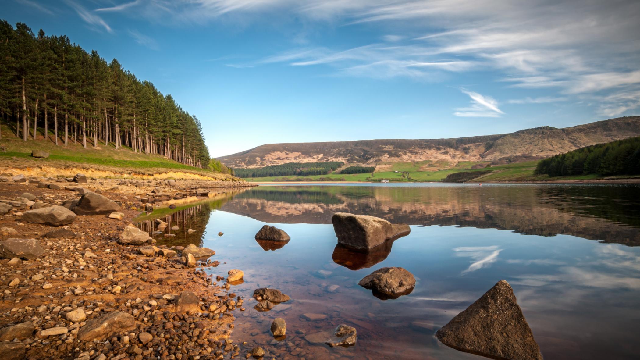River landscape in North West England
