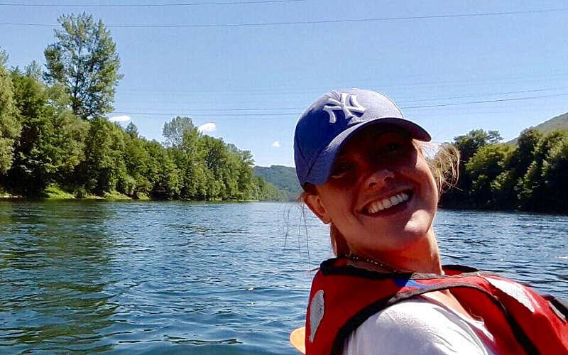 Alison Furber doing water sports