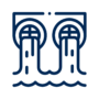 Fish barrier icon navy