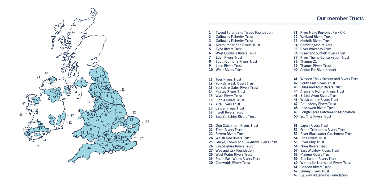 Map of Rivers Trusts 2019