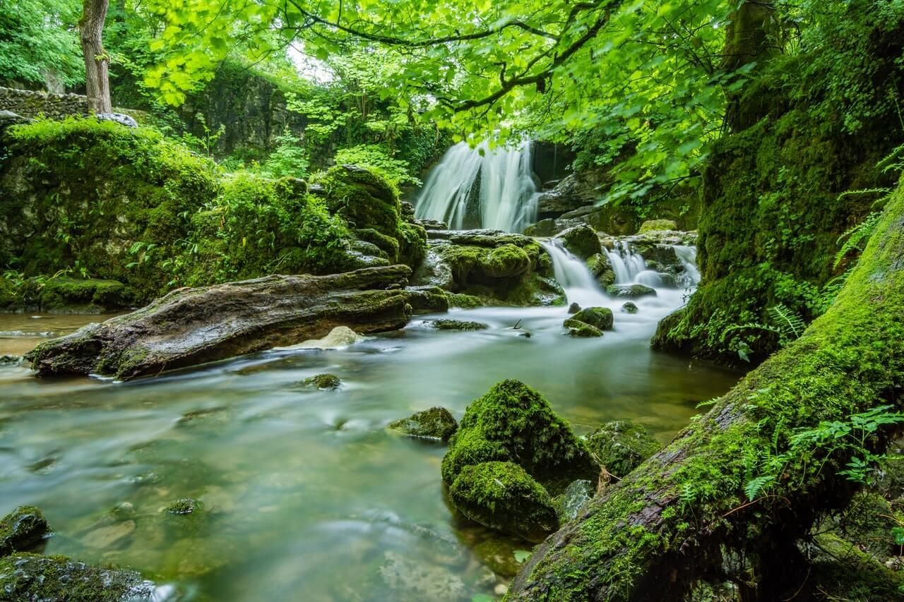 River cascade stock photo