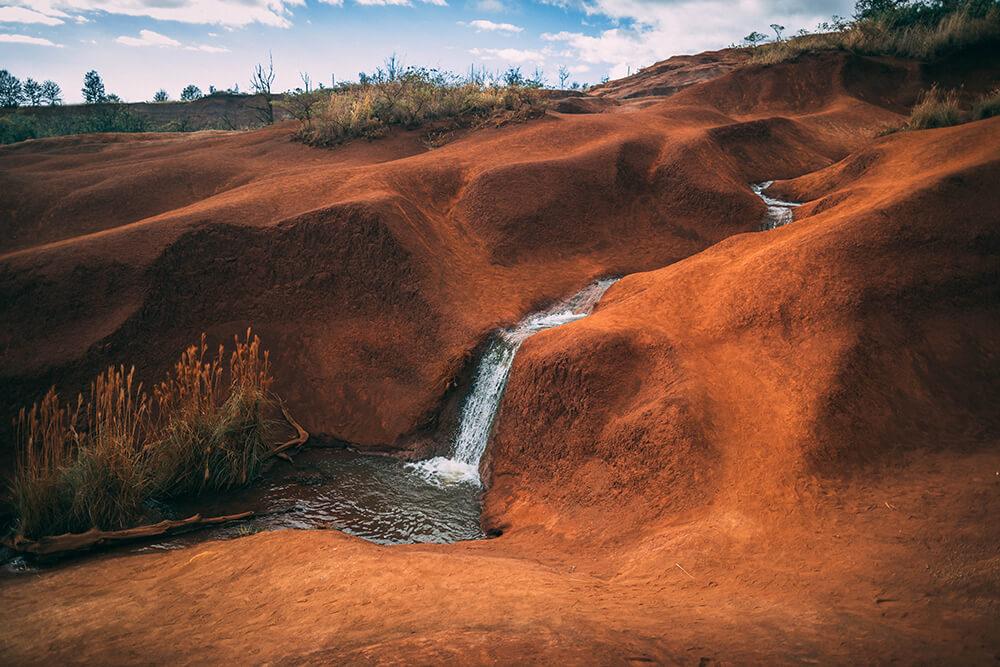 Arid river stock photo