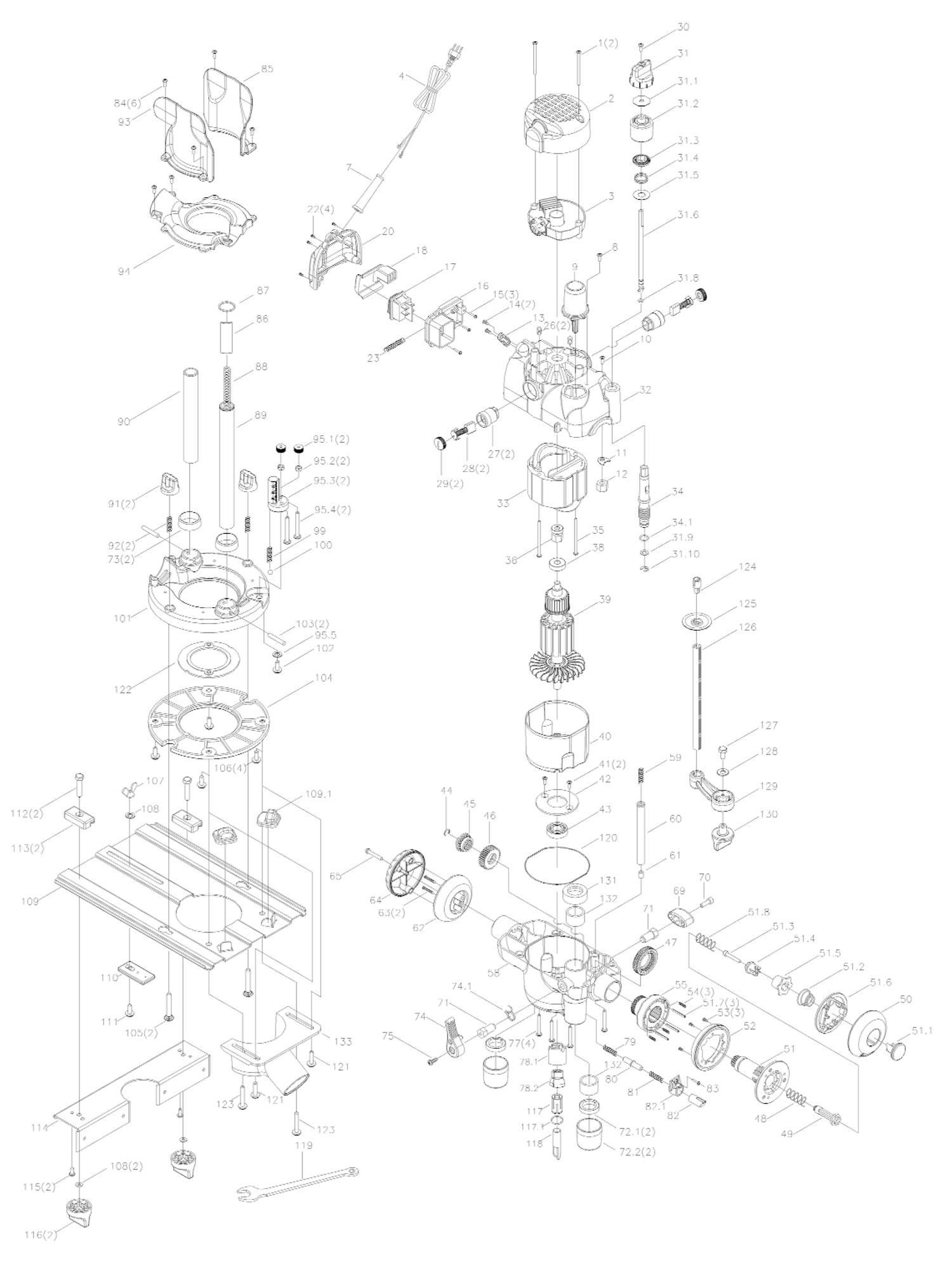 triton router tra001 spare parts
