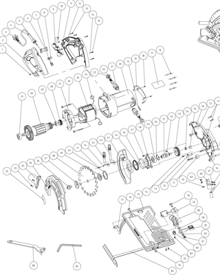 View Schematic Diagram Circular Saw TA184CSL (330130)