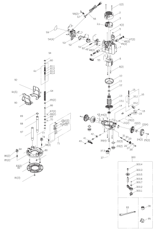 View Schematic Diagram Plunge Router JOF001 1010W (925837)