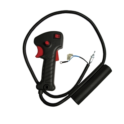 Picture of THROTTLE AND SWITCH HANDLE GRIP ASSEMBLY INC THROTTLE CABLE