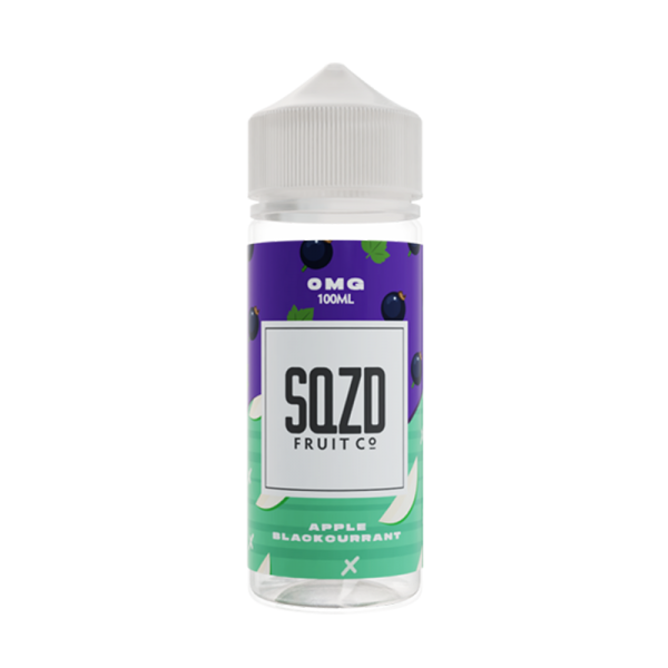 Sqzd Fruit Co Apple & Blackcurrant On Ice E Liquid 100ml Shortfill