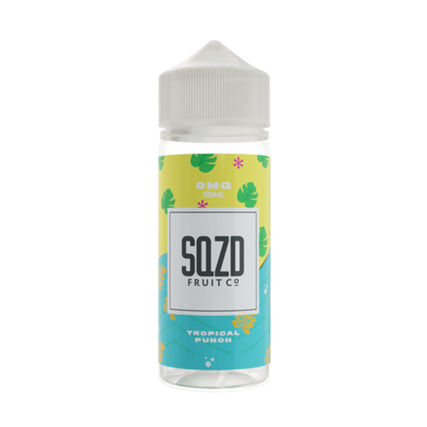 Sqzd Fruit Co Tropical Punch On Ice E Liquid 100ml Shortfill