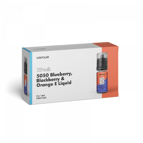 Vapour 5050 Blueberry, Blackberry & Orange XPack