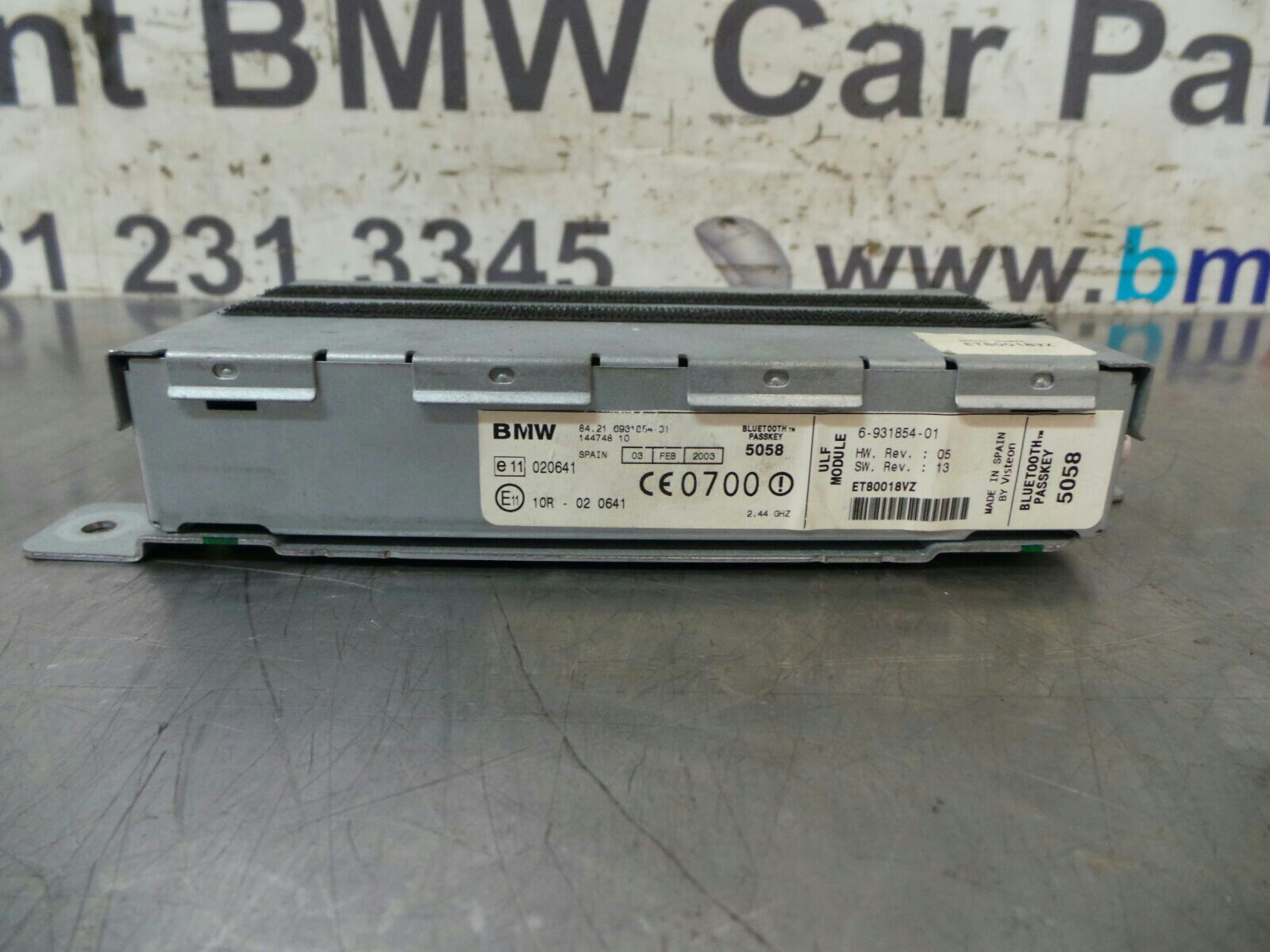 BMW E39 5 SERIES Bluetooth/Phone Module 84216931854 breaking