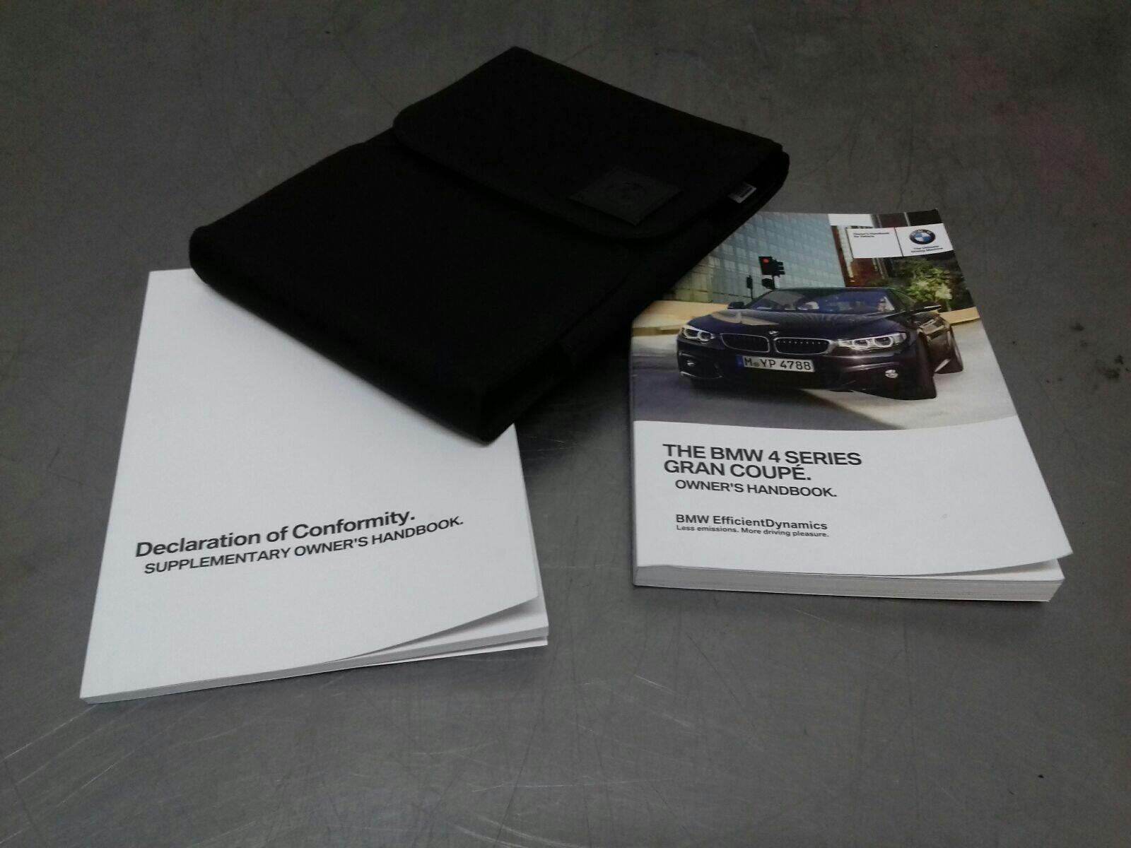 BMW F36 4 SERIES Owners Handbook 01402981532