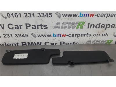 BMW E30 3 SERIES Black Sun Visors 51161916287/51161916286