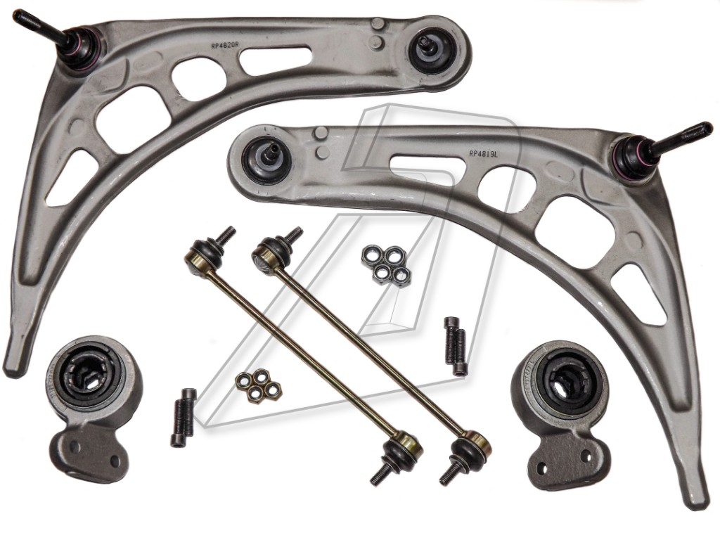 BMW 7 Series E65 Front Left and Right Control Arms, Bushes, Links Kit