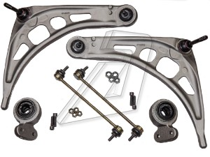 BMW 7 Series E66 Front Left and Right Control Arms, Bushes, Links Kit