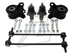Ford Focus Mk2 Front Left and Right Wishbone Bushes, Ball Joints and Links