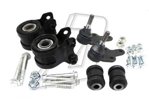 Ford Focus Mk2 Front Left and Right Wishbone Bushes Kit, Ball Joints