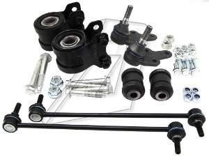 Ford Focus C-Max Front Left and Right Wishbone Bushes Kit and Ball Joints and Links