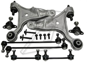 Volvo S60 Left and Right Suspension Control Arms, Ball Joints, Front Rear Links