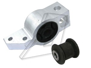 Skoda Octavia Front Right Wishbone Bush Kit With Bracket