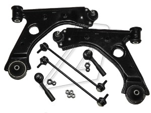Vauxhall Corsa D Front Left and Right Wishbones, Tie Rod Ends and Links Kit