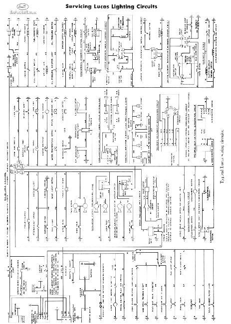 Typical Lucas Wiring circuits